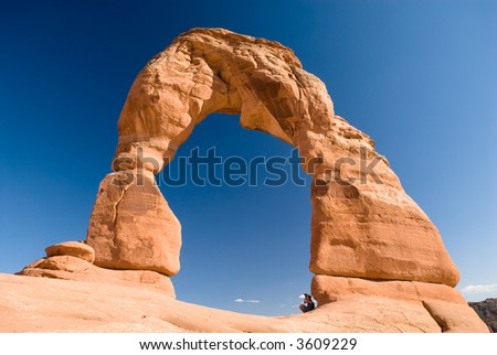 USA. Utah. Moab. Arches National Park. Delicate Arch. - stock photo