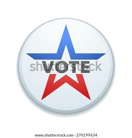 USA Vote button - stock photo