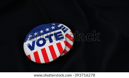 USA Vote button (pin badge) - stock photo