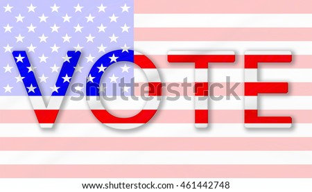USA Vote, The Stars and Stripes flag background for United States of America