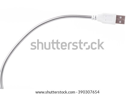 USB cable for lamp isolated on white background