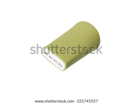Usb charger, on a white background