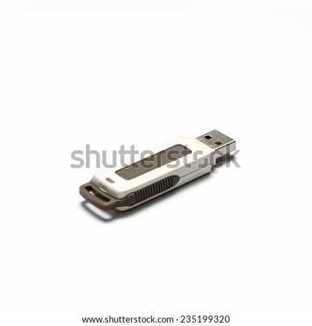 usb drive on a white background - stock photo