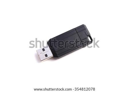 Usb flash memory - stock photo