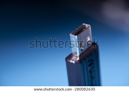 USB flash memory stick - stock photo