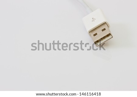 Usb isolated on white