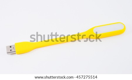 USB lamp on white background