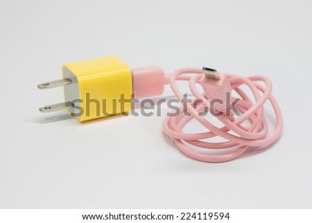 USB Plug power - stock photo
