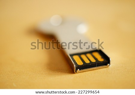 USB stick in key shape - stock photo