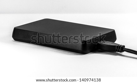 USB 3.0 traveler data storage on white background - stock photo