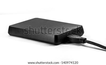 USB 3.0 traveller data storage on white background - stock photo
