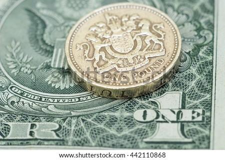 USD/GBP - stock photo