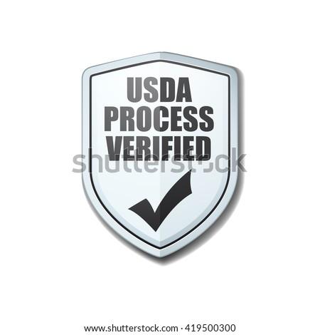 USDA Process Verified shield sign - stock photo