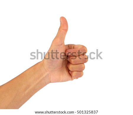 "Use a hand gesture as a sign that the ""great""."