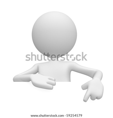 Use correct my copy space. 3d image isolated on white background - stock photo