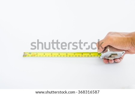 Use Measuring Tape on white background