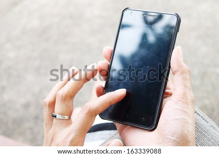 Use the phone - stock photo