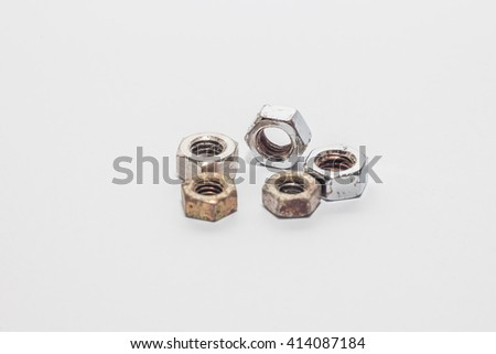 Used and new nuts for manufacturing and industry