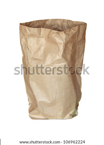 used bag made from recycle paper - stock photo