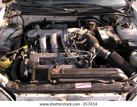 Used car engine - stock photo