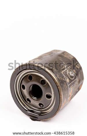 Used car oil filter - stock photo