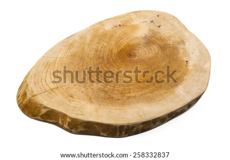 Used cutting board wood texture isolated
