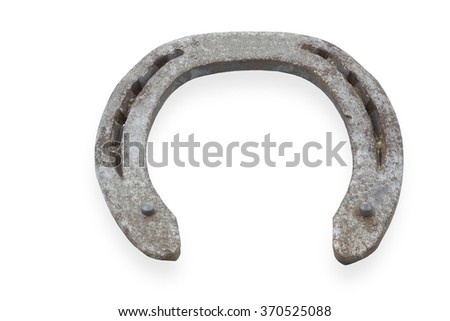 Used horse shoe isolated on white - stock photo