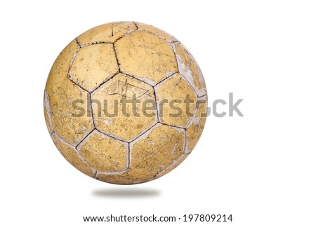 Used leather soccer ball
