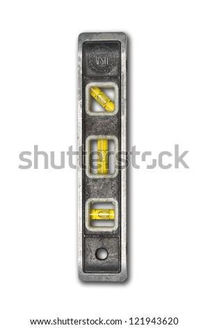 Used level on isolated background with clipping path - stock photo