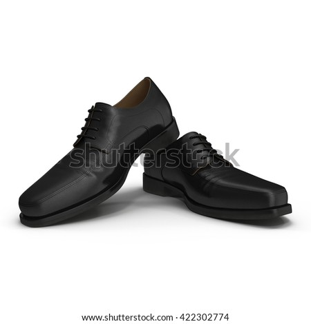 Used men shoes isolatd on white 3D Illustration - stock photo