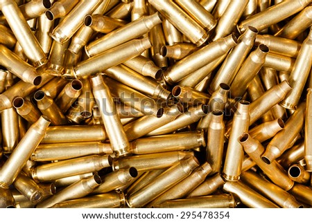 Used 5,56 mm bullets. - stock photo