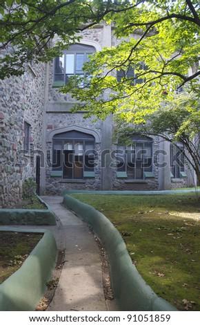 Usen castle in Brandeis University Waltham Massachusetts - stock photo