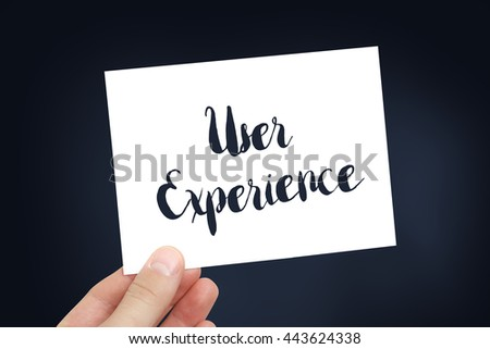 User experience concept - stock photo