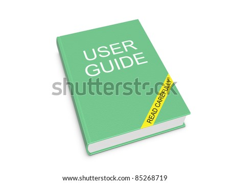 User guide. Isolated on the white background. - stock photo