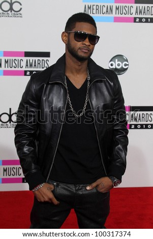 Usher  at the 2010 American Music Awards Arrivals, Nokia Theater, Los Angeles, CA. 11-21-10