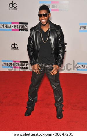 Usher at the 2010 American Music Awards at the Nokia Theatre L.A. Live in downtown Los Angeles. November 21, 2010  Los Angeles, CA Picture: Paul Smith / Featureflash