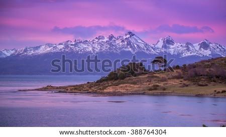 Ushuaia. Sunrise. Argentina - stock photo