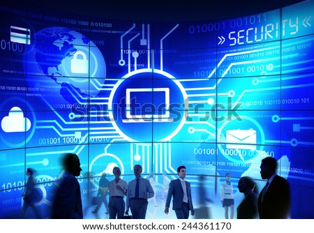 usiness People Commuter Technology Security Commuter Corporate Concept - stock photo