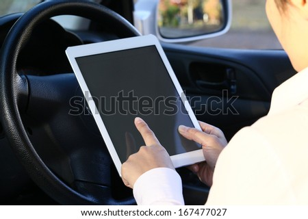 Using a tablet pc in a car