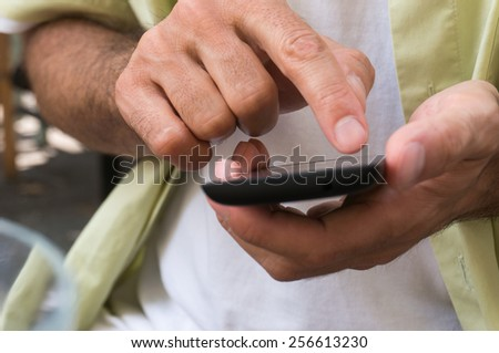 using cell phone - stock photo