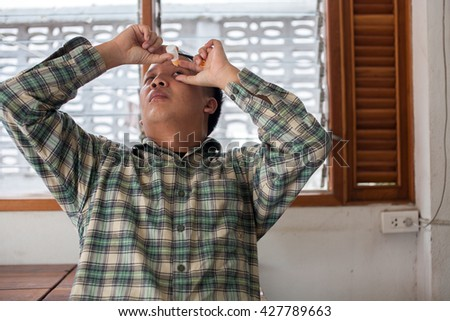 Using eye drops