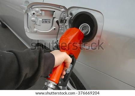 Using Fuel Nozzle - stock photo