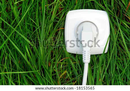 Using green energy - stock photo