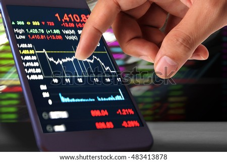 using smartphone Stock market data