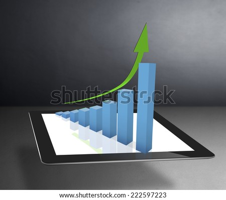 using tablet computer to work with financial data