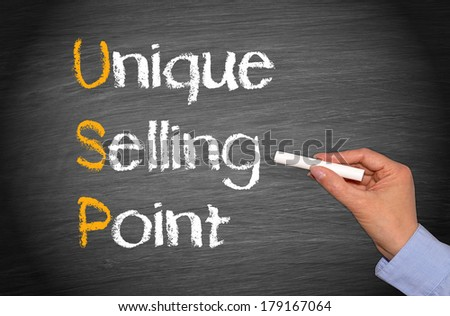 USP - Unique Selling Point - stock photo