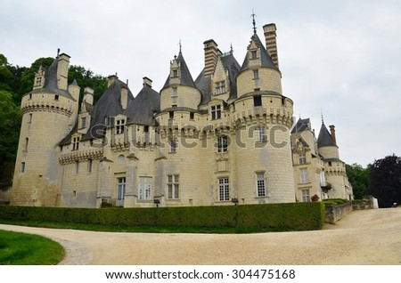 Usse castle in Loire Valley, France. - stock photo