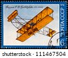 USSR - CIRCA 1974: A Postage Stamp shows image of the History of Air Transport, Biplane, 1974 - stock photo