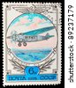 USSR - CIRCA 1978: A stamp printed by USSR shows plane, series, circa 1978 - stock photo