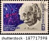 USSR - CIRCA 1979: A stamp printed in USSR shows portrait of man, name: Einstein, circa 1979 - stock photo